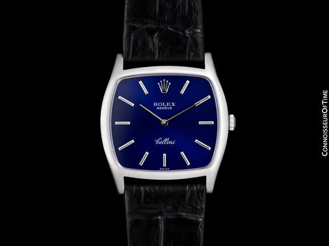 1976 Rolex Cellini Vintage Mens Handwound TV Watch, Ref. 3805 - 18K White Gold