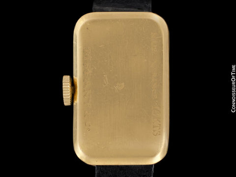 1950's Tiffany Rare Vintage 18K Gold French Made Watch - Owned & Worn By Jerry Lewis