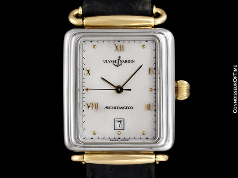 Ulysse Nardin Michelangelo Vintage Chronometer Mens Watch with Original Tag - Stainless Steel & 18K Gold Plated