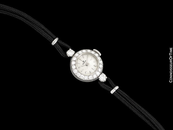 1960's Rolex Vintage Ladies Dress Watch - 14K White Gold & Diamonds
