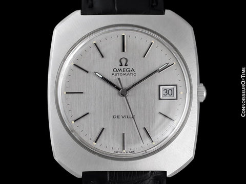 1971 Omega De Ville Vintage Large Mens Automatic Classic Retro Watch - Stainless Steel