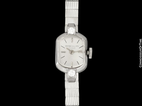 1950 Patek Philippe Vintage Ladies Ref. 3076 18K White Gold & Diamond Watch - Papers