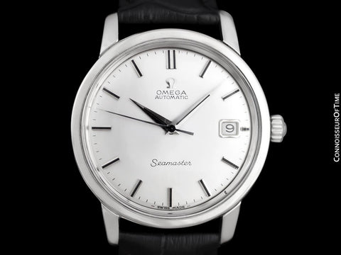 1965 Omega Seamaster Mens Vintage Full Size Watch with 562 Movement, Automatic, Date - Stainless Steel