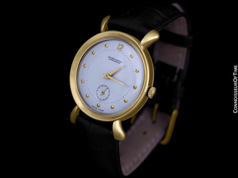1950's Ulysse Nardin Vintage Chronometer Mens Dress Watch, Beautiful Case - 18K Gold Plated