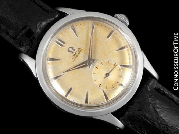 1956 Omega Vintage (Seamaster) Mens Automatic, Waterproof Tropical Dial Watch - Stainless Steel