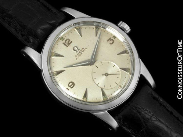 "1950 Omega Vintage (Seamaster) Mens Automatic, Waterproof ""Hammer Rotor"" Watch - Stainless Steel"