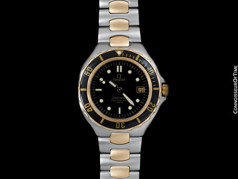 1991 Omega Seamaster 200M Pre-Bond Dive Watch, Date - Stainless Steel & 18K Gold