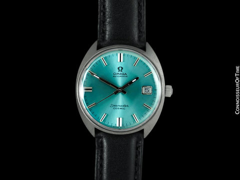 c. 1969 Omega Seamaster Cosmic Vintage Mens Cal. 565 Automatic Watch with Tiffany Blue Dial - Stainless Steel