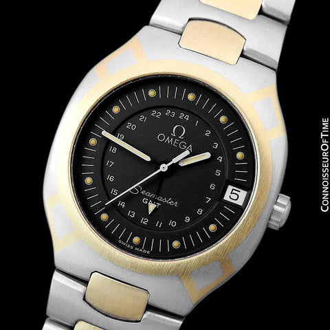 1989 Omega Polaris Seamaster Mens Divers Watch, Quick Setting Date - Stainless Steel & 18K Gold