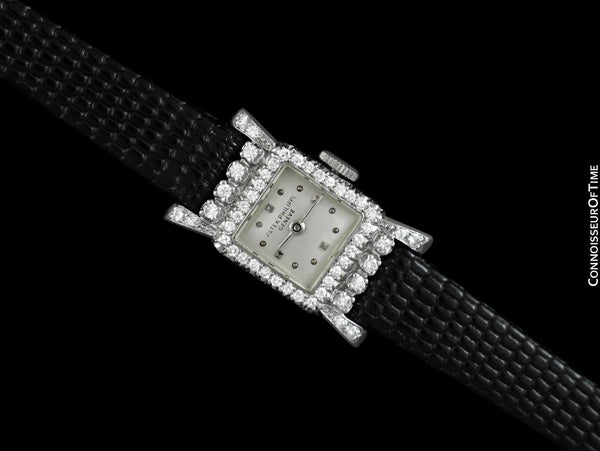 1932 / 1953 Patek Philippe Vintage Ladies Ref. 3146 Platinum and Factory Diamond Watch - Papers & Box