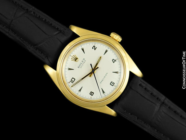 Rolex Oyster Classic Vintage Mens Handwound Watch - 18K Gold Plated & Stainless Steel