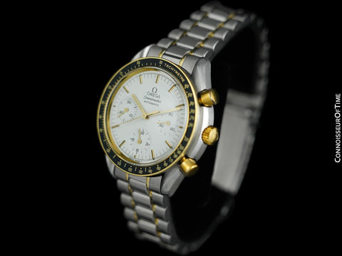 Omega Speedmaster Mens Automatic Chronograph Date Watch - Stainless Steel & 18K Gold