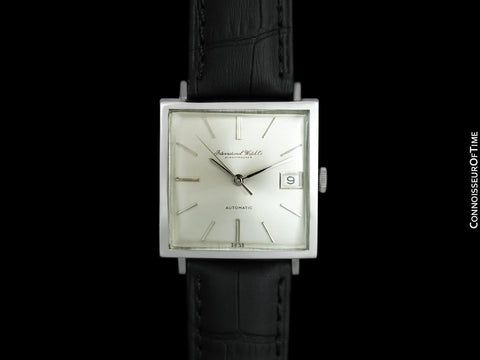 1969 IWC Vintage Mens Square Watch, Cal. 8541B Automatic, Date - Stainless Steel