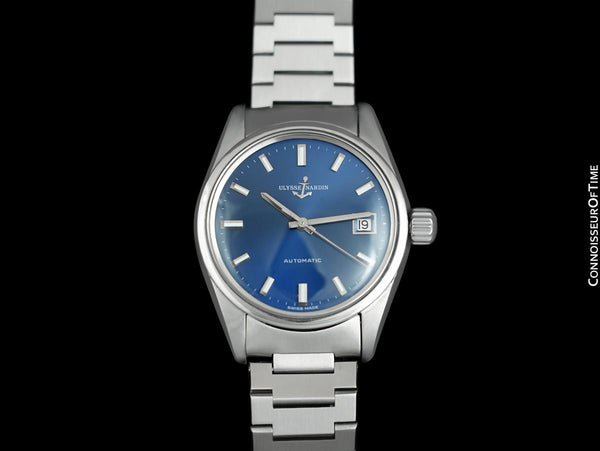 "1960's Ulysse Nardin Vintage Mens ""Datejust"" 36mm Automatic Calatrava Stainless Steel Watch"