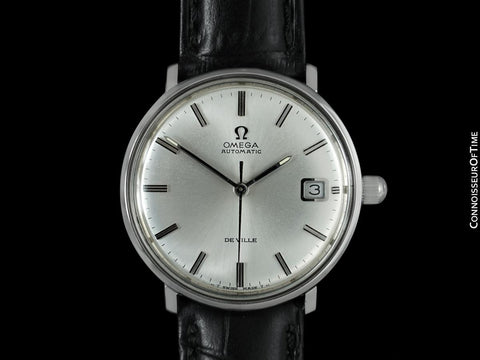 c. 1970 Omega DE VILLE Vintage Mens Cal. 565 Automatic Watch - Stainless Steel