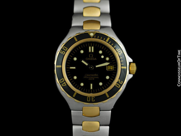 1995 Omega Seamaster 200M Pre-Bond Dive Watch, Date - Stainless Steel & 18K Gold