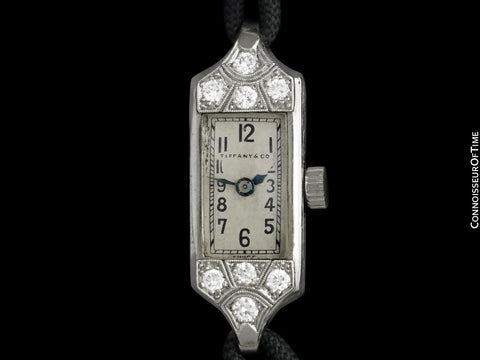 1933 Tiffany & Co. Longines Ladies Vintage Watch - Platinum & Diamonds