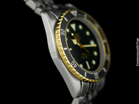 TAG Heuer Professional 1000 Mens Submariner Divers Watch - Stainless Steel & 18K Gold Plated - 980.020N