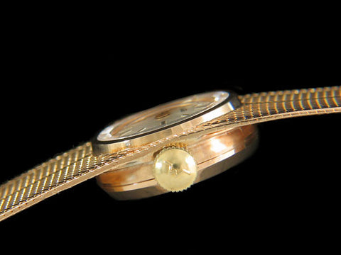 1960's Duward Spanish / Swiss Vintage Ladies Retro Bracelet Watch - 18K Gold