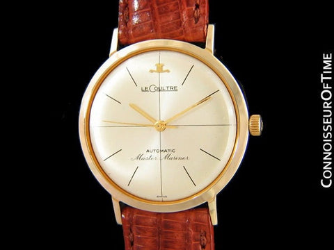 1965 Jaeger-LeCoultre Vintage Mens Master Mariner Automatic Watch - 14K Gold