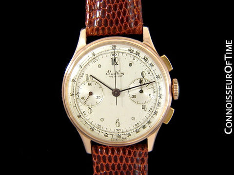 1945 Breitling Vintage Aviator's Ref. 760 Mens Chronograph Watch - 18K Rose Gold