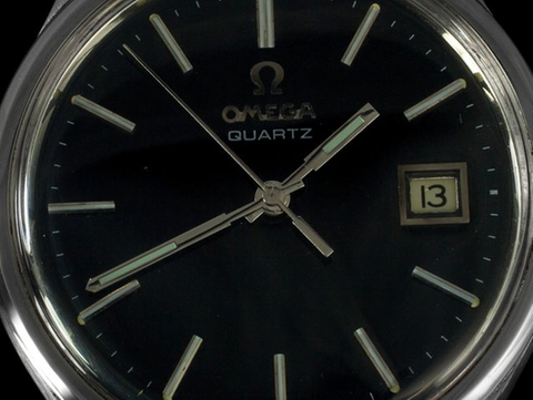 1979 Omega Vintage Mens Full Size Quartz Watch, Date - Stainless Steel