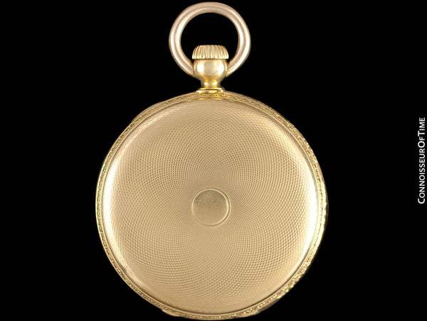 1873 Patek Philippe for Tiffany & Co. Antique Mens Midsize 38mm Hunter Case Pocket Watch - 18K Gold