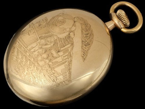 1900 18 size Illinois Railroad Gold Filled Pocket Watch - (23J) 24J Bunn Special