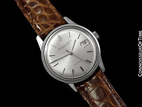 1966 IWC Vintage Mens Watch, Cal. 8541 Automatic with Date, Stainless Steel
