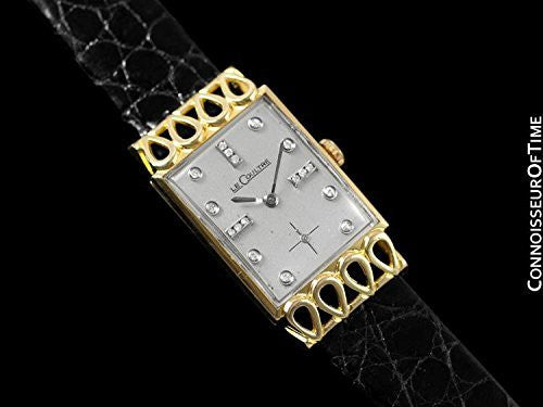 1951 Jaeger-LeCoultre Vintage Mens Watch, 18K Gold & Diamonds - The Lowell