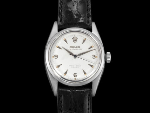 1954 Rolex Oyster Perpetual Ref. 6580 Vintage Mens Automatic Watch - Stainless Steel