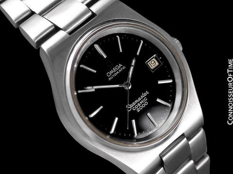 1978 Omega Seamaster Cosmic 2000 Vintage Retro Mens Dive Watch, Date - Stainless Steel