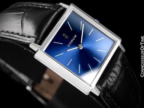 Corum Mens Square Dress Watch - Stainless Steel