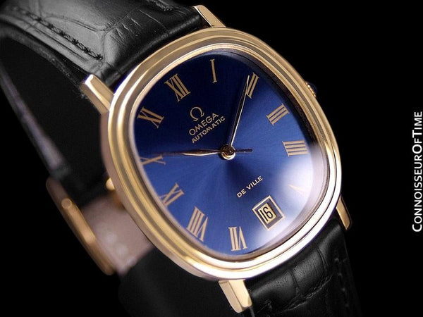 1975 Omega De Ville Vintage Mens Automatic Full Size Watch - 18K Gold Plated & Stainless Steel
