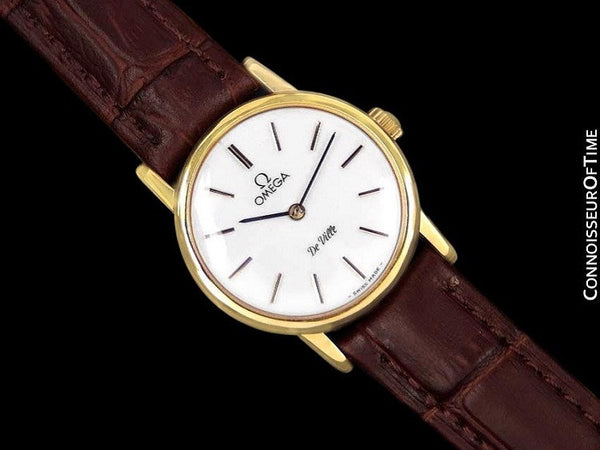 1980 Omega De Ville Vintage Ladies Watch - 18K Gold Plated & Stainless Steel