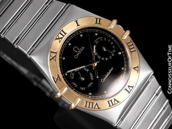 Omega Constellation Mens 35mm, Quartz, Day-Date - Stainless Steel & 18K Gold