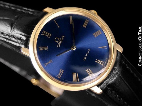 1970 Omega De Ville Mens Midsize Ultra Thin Dress Watch - 18K Gold Plated and Stainless Steel