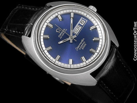 1970's Omega Seamaster Cosmic 2000 Vintage Mens Large Dive Watch, Automatic, Day Date - Stainless Steel