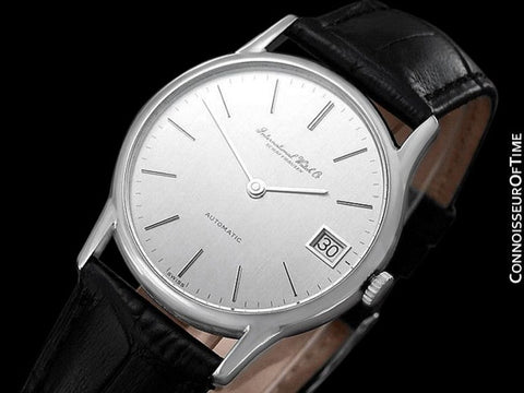 1979 IWC Vintage Mens Ultra Thin Automatic Watch - Stainless Steel - Only 600 Made