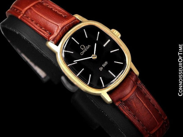 1979 Omega De Ville Vintage Ladies Watch - 18K Gold Plated & Stainless Steel
