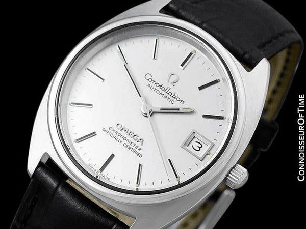 "1974 Omega Constellation ""C"" Chronometer Vintage Mens Calendar Date Watch - Stainless Steel"