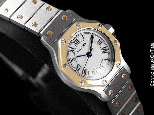 Cartier Santos Octagon Ladies Watch, Automatic - Stainless Steel & 18K Gold