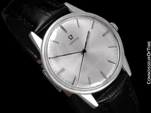 1962 Omega Full Size Classic Vintage Mens 30T2 Watch - Stainless Steel