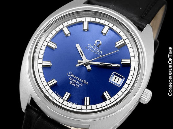 1970's Omega Seamaster Cosmic 2000 Vintage Retro Mens Dive Watch, Date - Stainless Steel