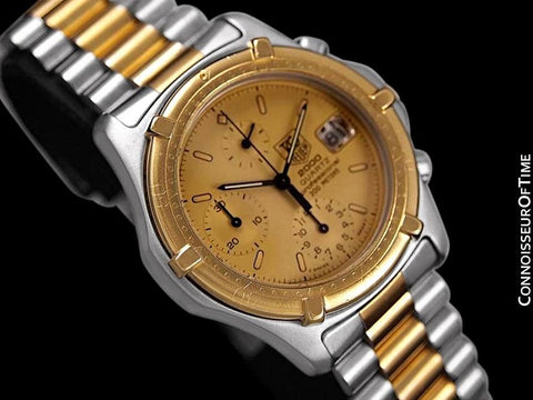 TAG Heuer 2000 Mens Chronograph Divers Watch, 262.006-1- Stainless Steel & 18K Gold Plated