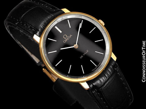 1974 Omega De Ville Vintage Mens Dress Watch - 18K Gold Plated & Stainless Steel