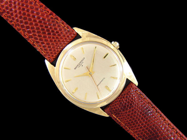 1960's Baume & Mercier Baumatic Vintage Full Size Mens Watch, Automatic - 18K Gold