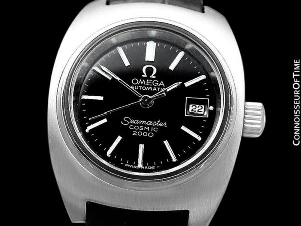 1970's Omega Seamaster Cosmic 2000 Ladies Vintage Retro Dive Watch, Date - Stainless Steel