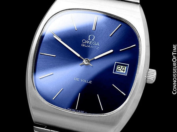 1975 Omega De Ville Classic Vintage Mens Transitional Cal. 1320 Quartz Watch, Date - Stainless Steel