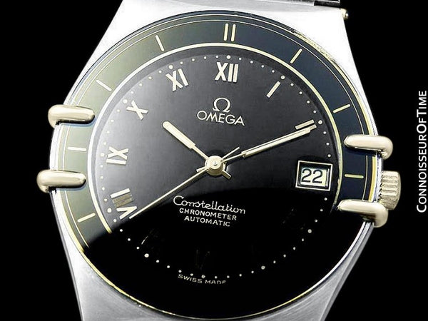 Omega Constellation Mens Large Chronometer Watch, Automatic, Stainless Steel & 18K Gold - The Original Manhattan